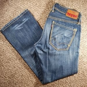 Levi's Red Men's Low Rise Boot Cut Jeans 32x30